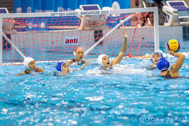 SEA Games 2015 Water Polo OCBC Aquatic Centre Women Round Robin Match 4 Singapore Malaysia