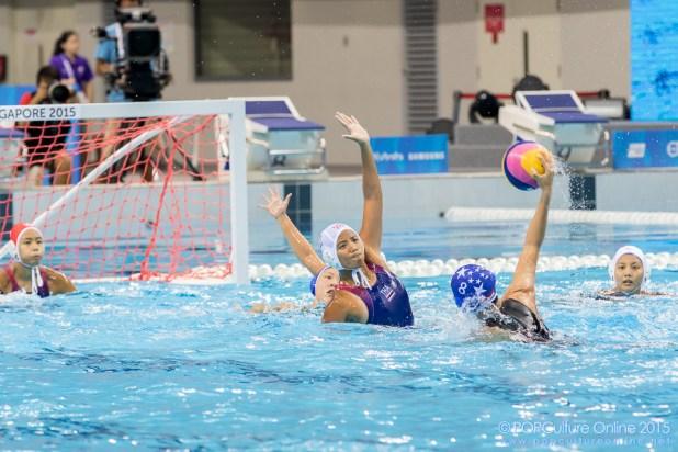 SEA Games 2015 Women Water Polo Final Thailand Singapore OCBC Aquatic Centre (23)