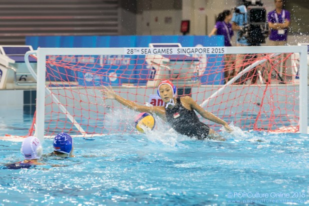 SEA Games 2015 Women Water Polo Final Thailand Singapore OCBC Aquatic Centre Eunice Fu