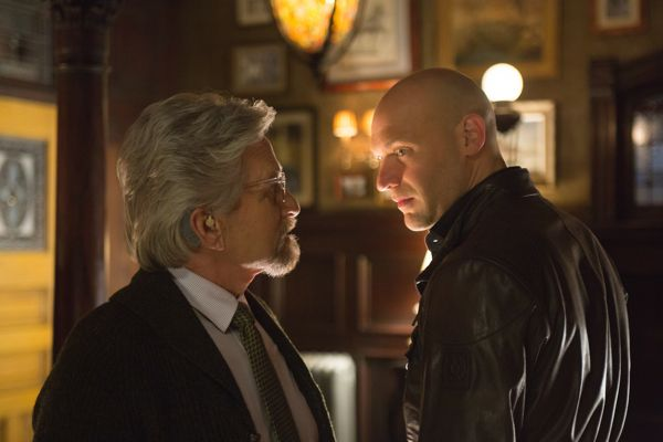 Marvel's Ant-Man..L to R: Hank Pym (Michael Douglas) and Darren Cross (Corey Stoll)..Photo Credit: Zade Rosenthal..© Marvel 2014