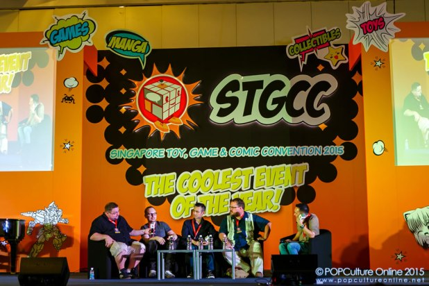 STGCC 2015 Stage Panel Talking Comics Adi Granov Adam Hughes C.B. Cebulski Jim Cheung