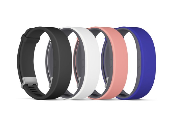 Sony Smartband 2 Straps Black White Pink Blue Colour