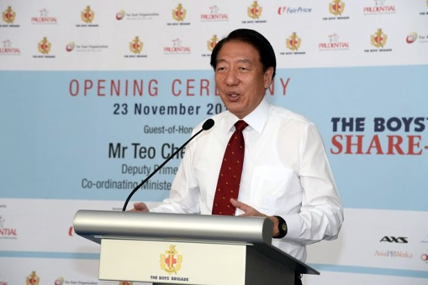 Boys Brigade Share-a-Gift (BBSG) 2015  Opening Ceremony Mr Teo Chee Hean