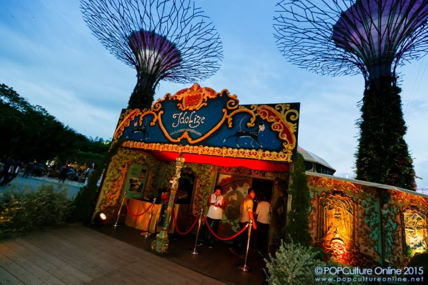 Christmas Wonderland Gardens by the Bay 2015 Spiegeltent Entrance