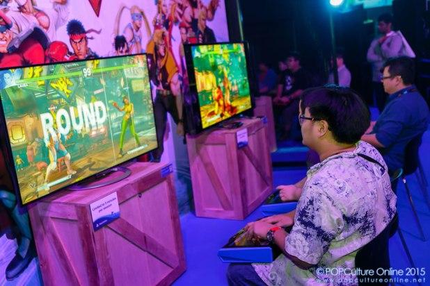 GameStart 2015 PlayStation Booth Experience Street Fighter V