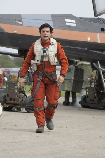 Star Wars: The Force Awakens..Poe Dameron (Oscar Isaac)..Ph: David James..©Lucasfilm 2015
