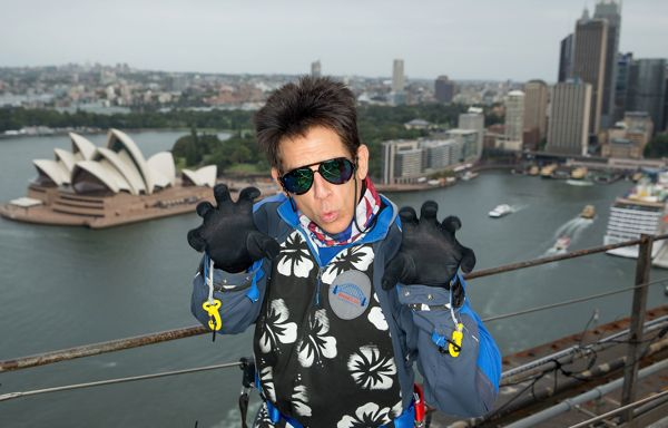 SYDNEY, AUSTRALIA - JANUARY 27:  (EDITORS NOTE: This image has been manipulated at the request of Paramount Pictures.) Derek Zoolander poses at a special stunt to promote the release of Paramount Pictures film 'Zoolander No. 2' at the Sydney Harbour Bridge on January 27, 2016 in Sydney, Australia.  (Photo by Brendon Thorne/Getty Images for Paramount Pictures)