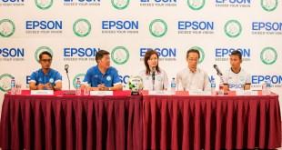 Epson Singapore Geylang International FC - Head Coach Hasrin Jailani, Mr Ben Teng, Ms Tin Pei Ling, Mr Toshimitsu Tanaka, GIFC Captain Isa Halim