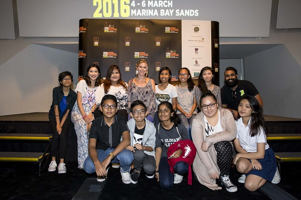 Youths from 10 Square with Joss Stone 040316 (1)
