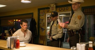 Left to right: Tom Cruise plays Jack Reacher, Judd Lormand plays Local Deputy and Jason Douglas plays Sheriff in Jack Reacher: Never Go Back from Paramount Pictures and Skydance Productions