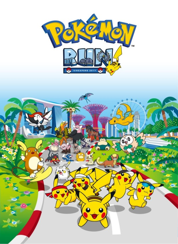 Pokemon Run SIngapore 2017 Poster