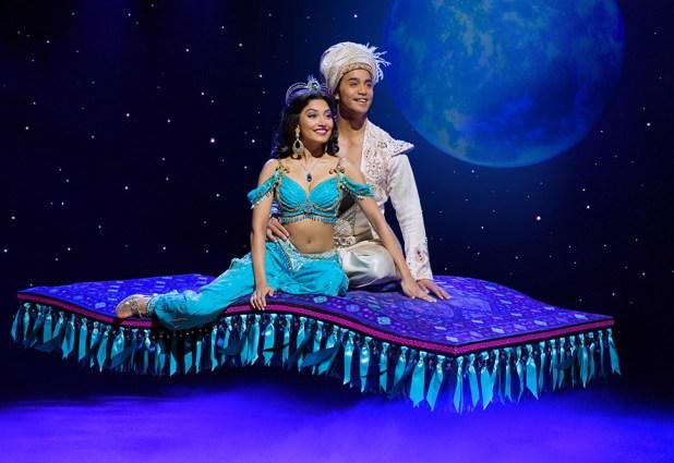 (Flying Carpet) Graeme Isaako as Aladdin with Shubshri Kandiah as Jasmine - James Green