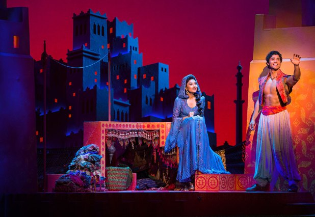 (Rooftop) Graeme Isaako as Aladdin with Shubshri Kandiah as Jasmine - James Green