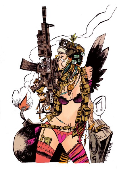 Singapore Comic Con SGCC 2019 Jim Mahfood Tank Girl