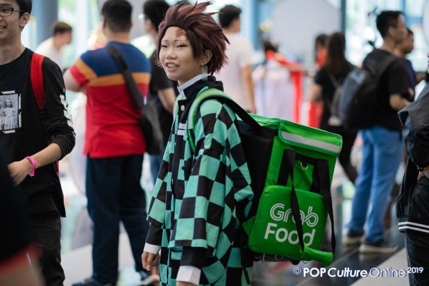 C3 Anime Festival Asia Singapore 2019 Cosplayer Tanjiro Kamado Grab Food
