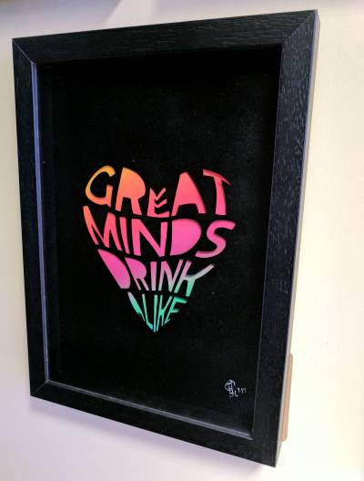 Great minds drink alike – A4