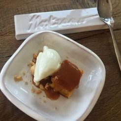 Ristorante Nostrano - Pesaro - Chef Stefano Ciotti Biscotto morbido e gelatina alle nocciole, gelato al rosmarino
