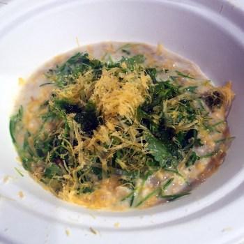 Tabata & Ludovic Mey - Risotto di semi di girasole, insalata fermentata, mimolette