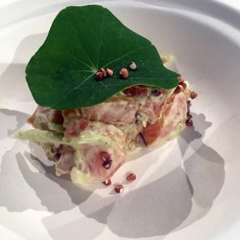 Sven Chartier - Trota, maionese di patate affunicate e aglio orsino, nasturzio