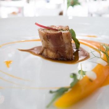 Marcello Corrado, lombo di coniglio pistacchio e tartufo, animelle, carota