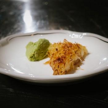 Kunefe alla mozzarella, crema di pistacchio e ricotta