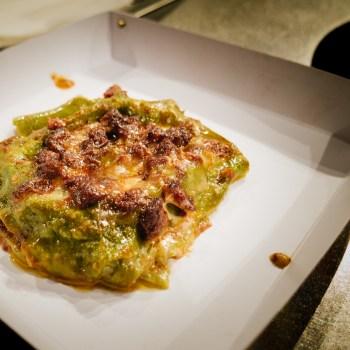Fabio Rossi - Lasagnetta di sfoglia verde, ragù di manzo al coltello e pecorino