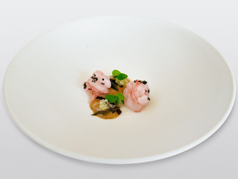 Ulliassi - Gamberi, teste di gambero, alghe croccanti