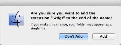 Add wdgt to file name