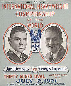 Image result for Jack Dempsey vs Georges Carpentier 1921