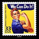 Rosie stamp, circa 1999.
