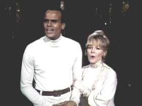 Belafonte and Clarke Interracial Touching TV