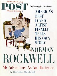 13 Feb 1960: Norman Rockwell, cover feature, Saturday Evening Post.