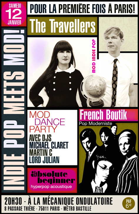 130112 Absolute Beginner with Travellers & French Boutik @ Mécanique Ondulatoire