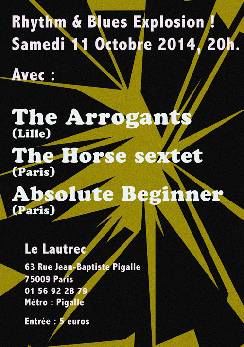 141011 Absolute Beginner with The Horse and The Arrogants @ Lautrec