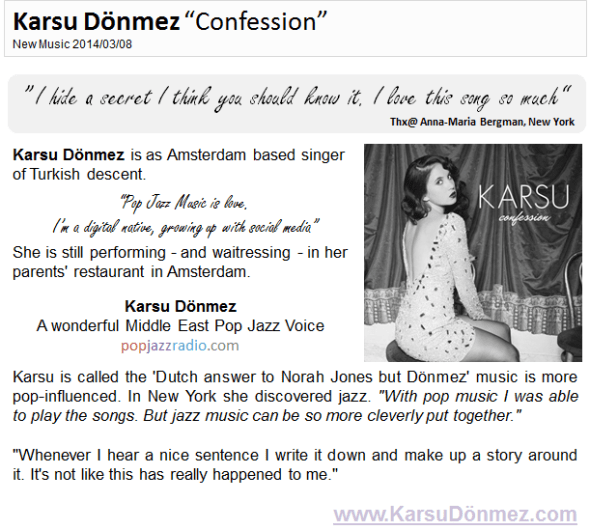 "Karsu Dönmez ""Confession"" New Pop Jazz Music"