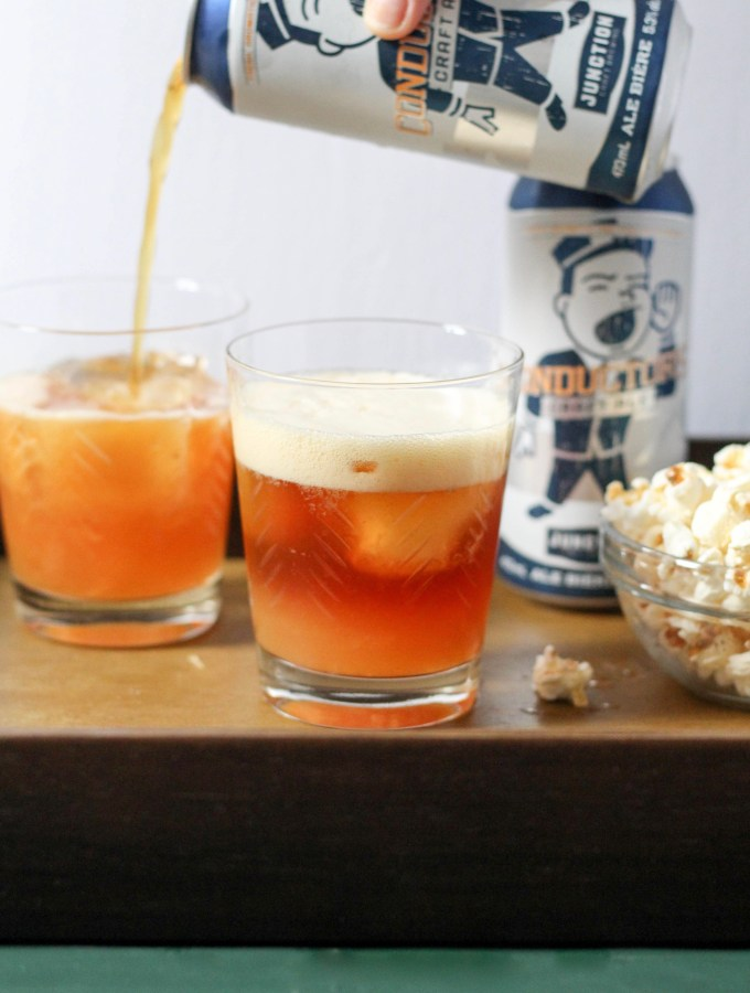 Citrus craft beer cocktails with clementine, rum, and maple syrup| POP KITCHEN