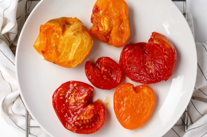 Roasted smoked tomatoes, great in pasta or with goat cheese // POP KITCHEN
