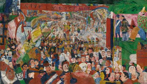 Christ's Entry into Brussels in 1889, 1888 by James Ensor. © 2014 Artists Rights Society (ARS), New York / SABAM.