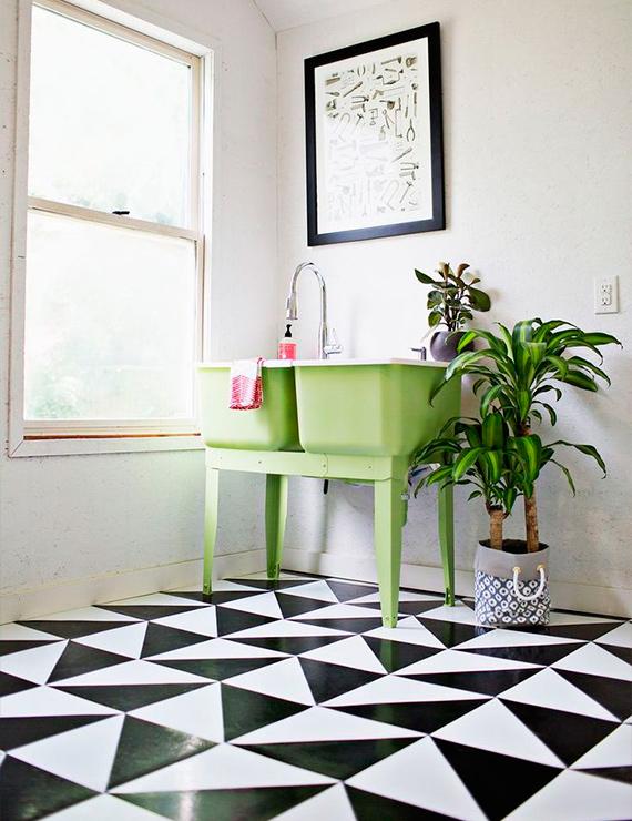 adesivos padrões geométricos banheiro