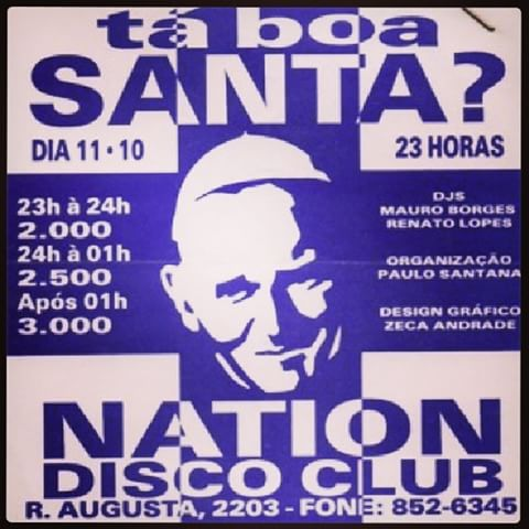 nation disco club flyer tá boa santa
