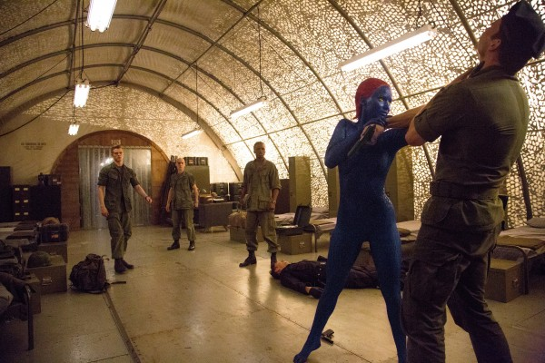 Jennifer Lawrence makes Mystique much more than just blue body paint. (20th Century Fox)