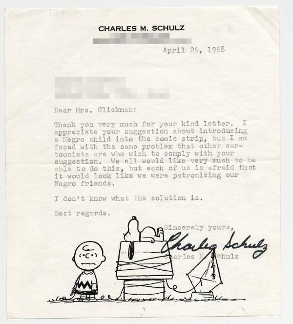 Charles-Schulz-letter-Harriet-Glickman