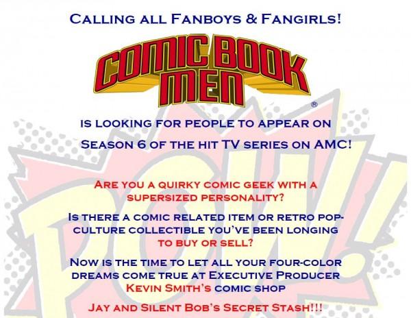 comic book men casting call 1