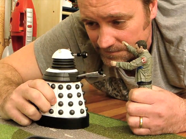 david hewlett with toys