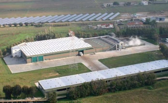 L'impianto di compostaggio Kyklos di Acea ad Aprilia
