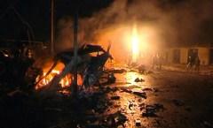 Mahachkala, uno dei tanti attentati notturni che avvengono nella capitale della Repubblica autonoma.