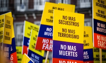Bogotà. Manifestazione contro le Farc.