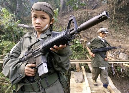 La guerriglia dell'Unione nazionale dei Karen (Knu) utilizza bambini-soldato.