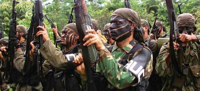 Miliziani dell'Unità di autodifesa della Colombia (Auc), conosciuti anche come squadroni della morte.