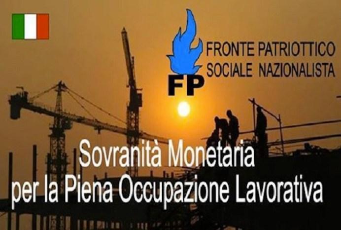 Il manifesto del Fronte patriottico sociale nazionalista, il partito di Stefio.